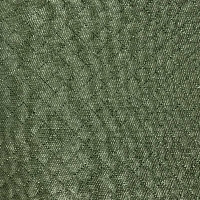 Tecido Matelassado Linho Reto Verde - 50cm X 140cm