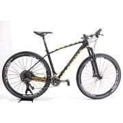 Bicicleta Aro 29 Soul Vesuvio Carbon Shimano XTR Azul Laranja Tam L