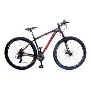 Bicicleta Aro 29 Trust 24V Shimano Disco Hidráulico Vermelha Preto