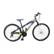 Bicicleta Vikingx Tuff Freeride Freio V-brake Preto/Amarelo RX Laranja