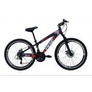 Bicicleta Vikingx Tuff Freeride Freio Disco Roxo Laranja