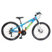 Bicicleta Vikingx Tuff X25 Shimano Disco Azul Vmaxx