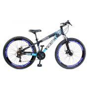 Bicicleta Vikingx Tuff X25 Shimano Disco Pto/Azul Vmaxx 2019