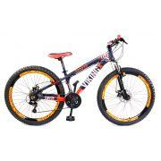 Bicicleta Vikingx Tuff X25 Shimano Disco Roxo/Laranja Vmaxx 2019
