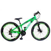 Bicicleta Vikingx Tuff X25 Shimano Disco Verde Neon Vmaxx 2019