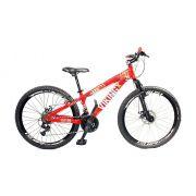 Bicicleta Vikingx Tuff X25 Shimano Freio A Disco Vermelha aros Escape