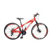 Bicicleta Vikingx Tuff X25 Vermelha Freio Disco aros Vmaxx Brancos