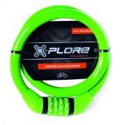Cadeado Bicicleta X-Plore Segredo Combinação 4 digitos 15x800mm