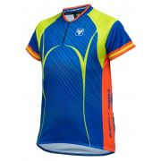 Camisa Ciclismo Infantil Masculina Free Force Scar - Azul Marinho