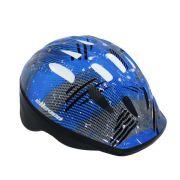Capacete Infantil Elleven - Azul Preto Skate Patins Bike
