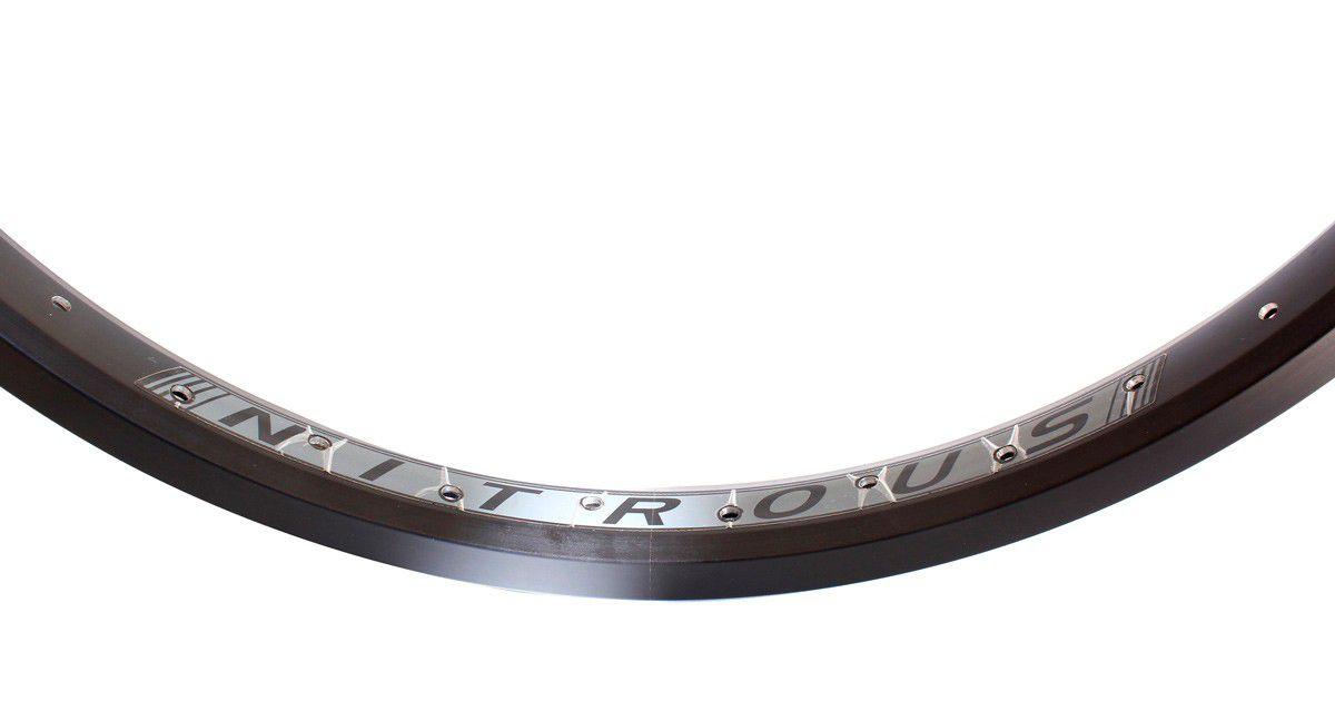 Aro 20 BMX parede dupla Eastern Bikes 36F Preto Alumínio