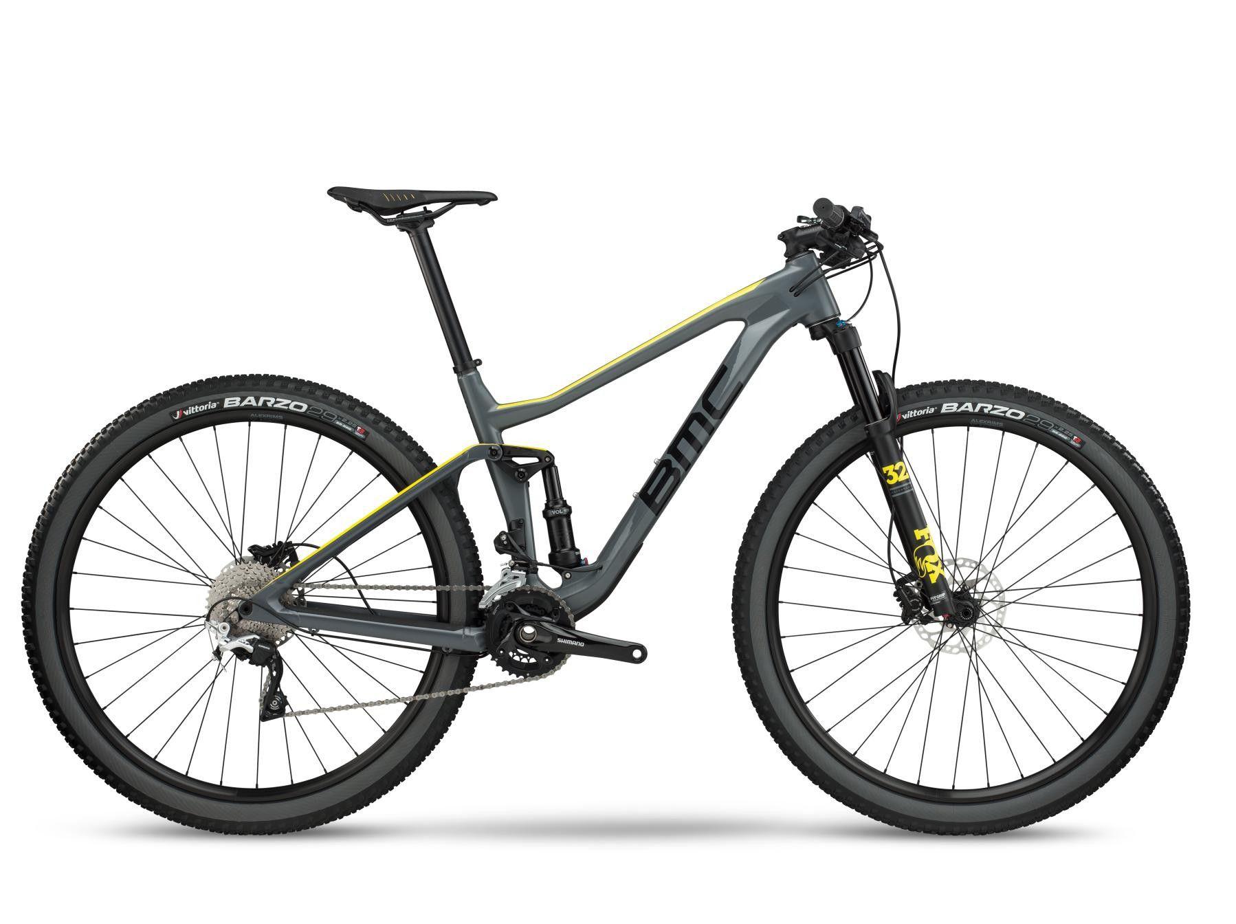 Bicicleta 29 Carbono Bmc Agonist 02 Deore / XT Aro 29 2018 Cinza e Verde