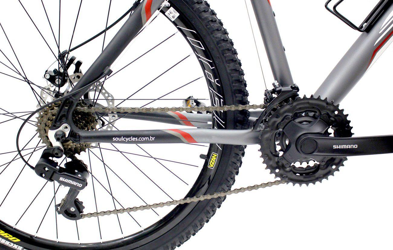 Bicicleta Aro 26 Freios a Disco Soul Sl300 21v