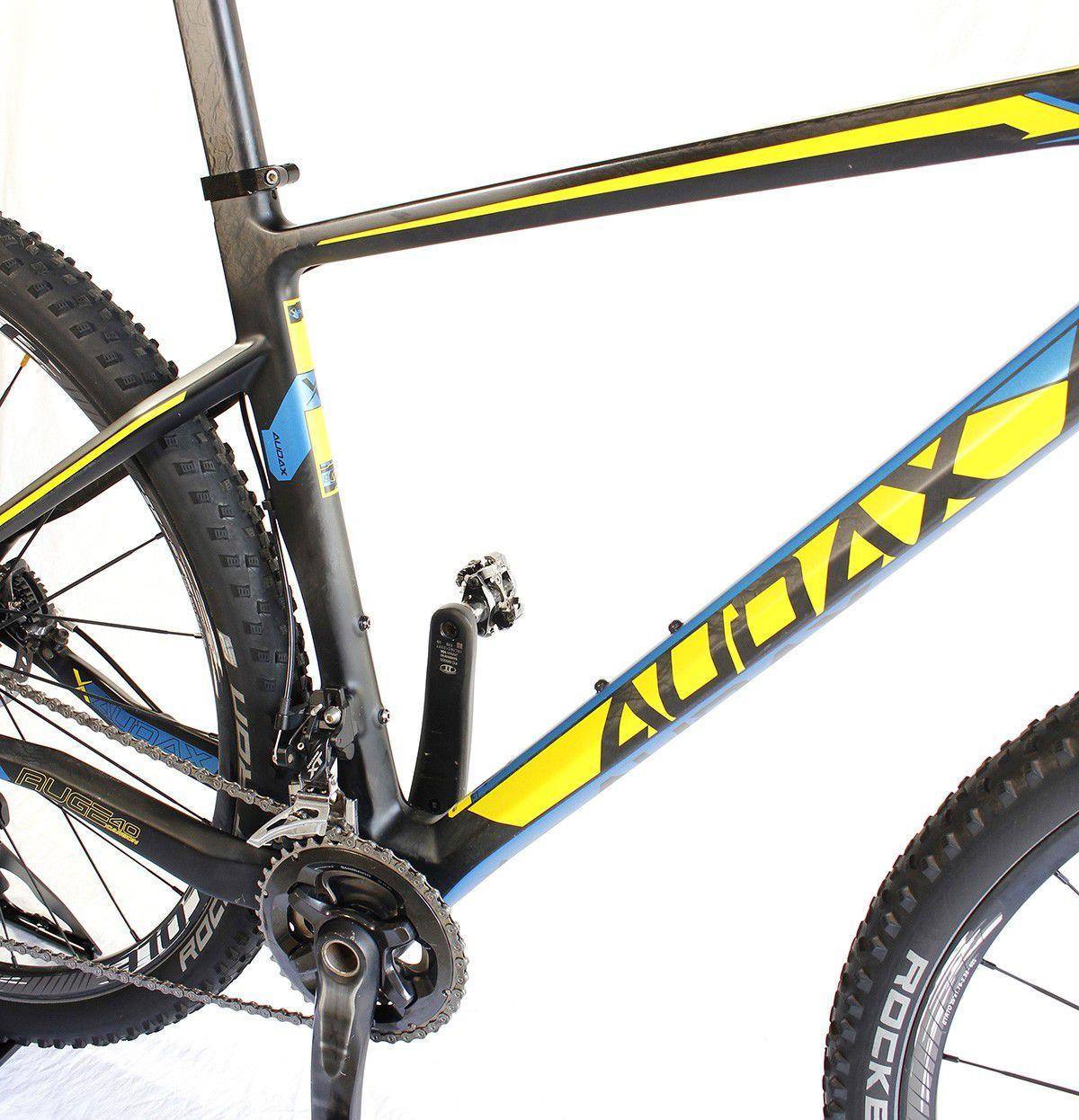 Bicicleta Aro 29 Audax Auge 40 Carbono XT Tam 19 (semi nova)