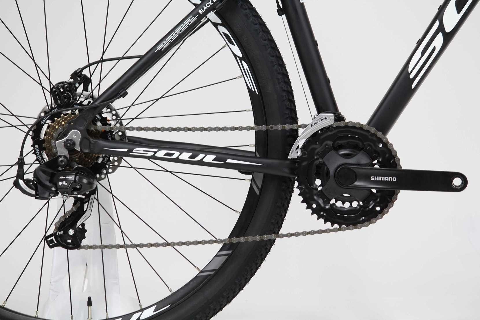 Bicicleta Aro 29 Soul Black Rain Shimano 21v Pto Fosco