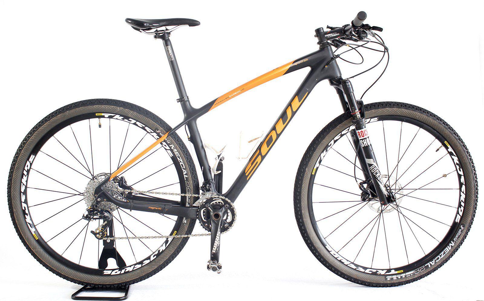 Bicicleta Aro 29 Soul Magma HT 529 Carbono Sram GX Reba ( semi nova )