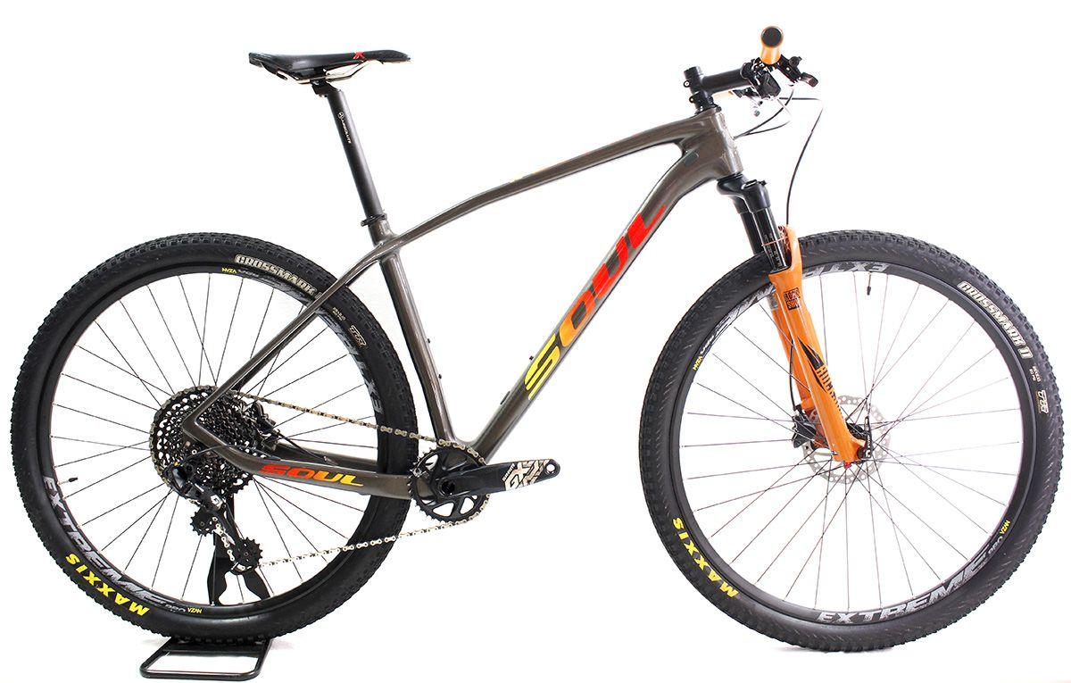 Bicicleta Aro 29 Soul Vesuvio Carbon 12V GX Eagle + Sid WC T19 semi nova