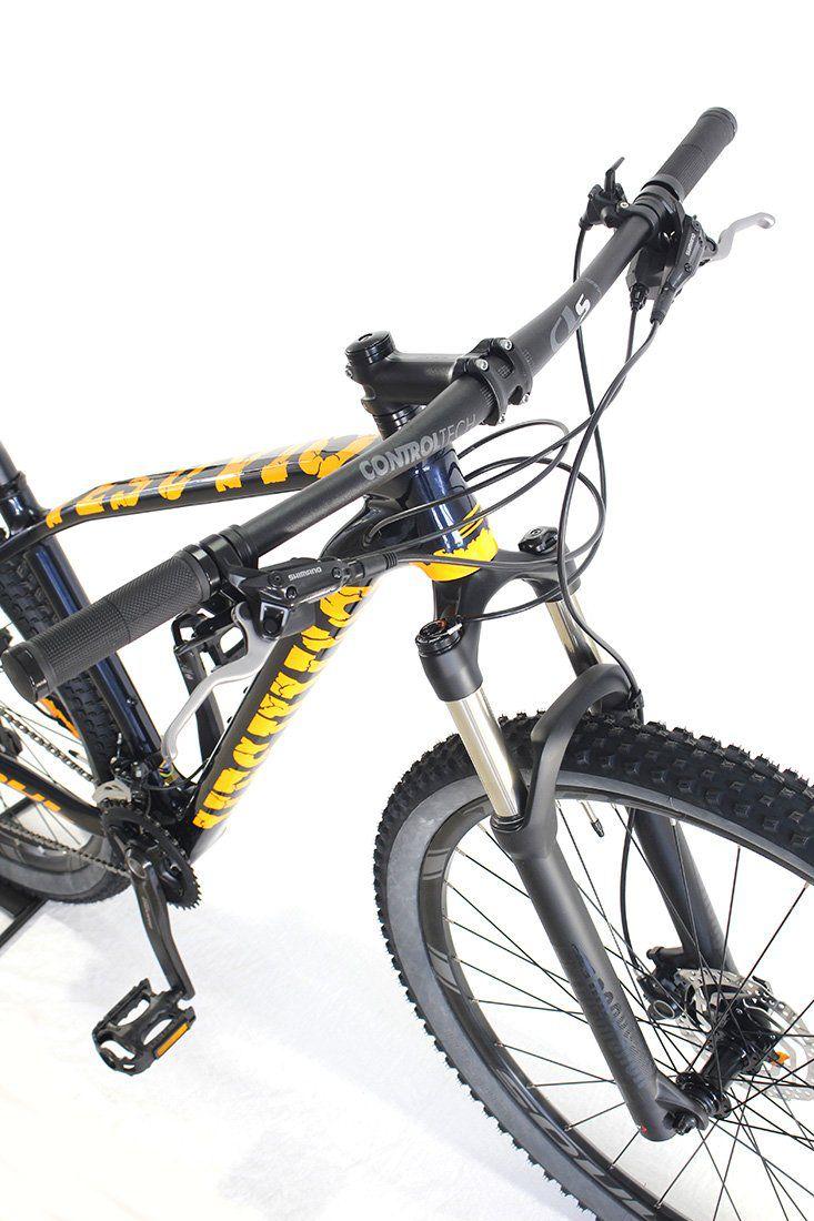 Bicicleta Aro 29 Soul Vesuvio Carbon Shimano Deore Azul Laranja Tam M