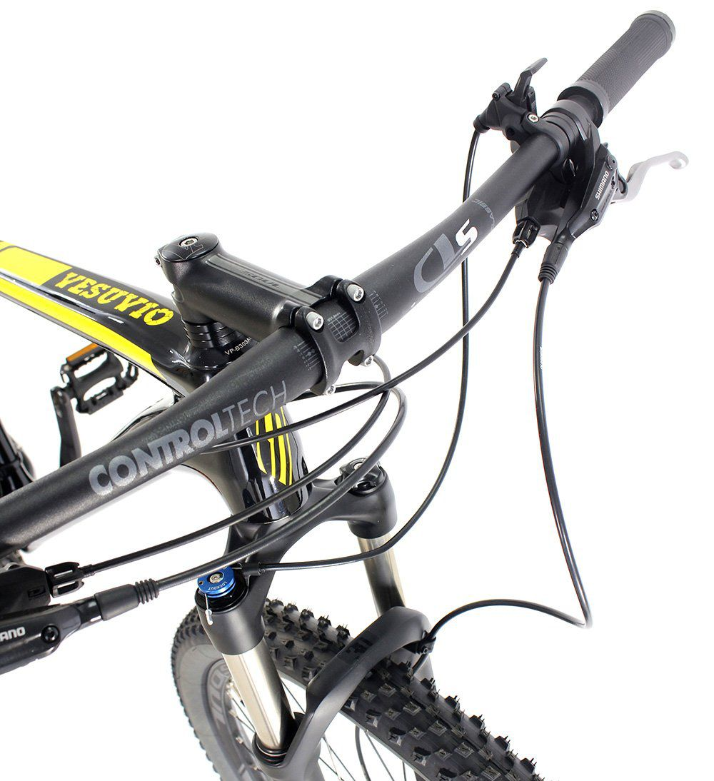 Bicicleta Aro 29 Soul Vesuvio Carbon Shimano Deore Preta Amarelo