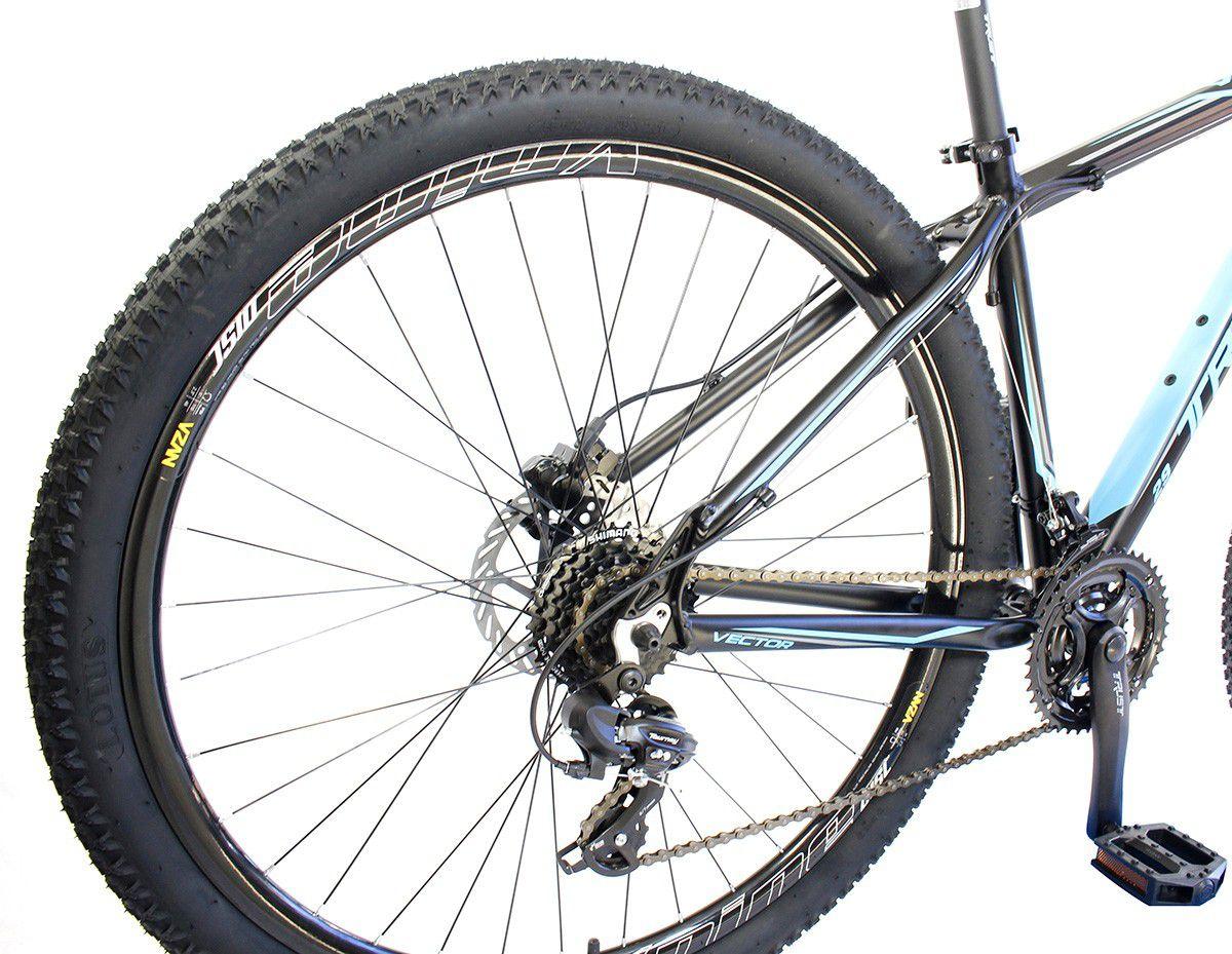 Bicicleta Aro 29 Trust 24V Shimano Disco Hidráulico Pto/Azul