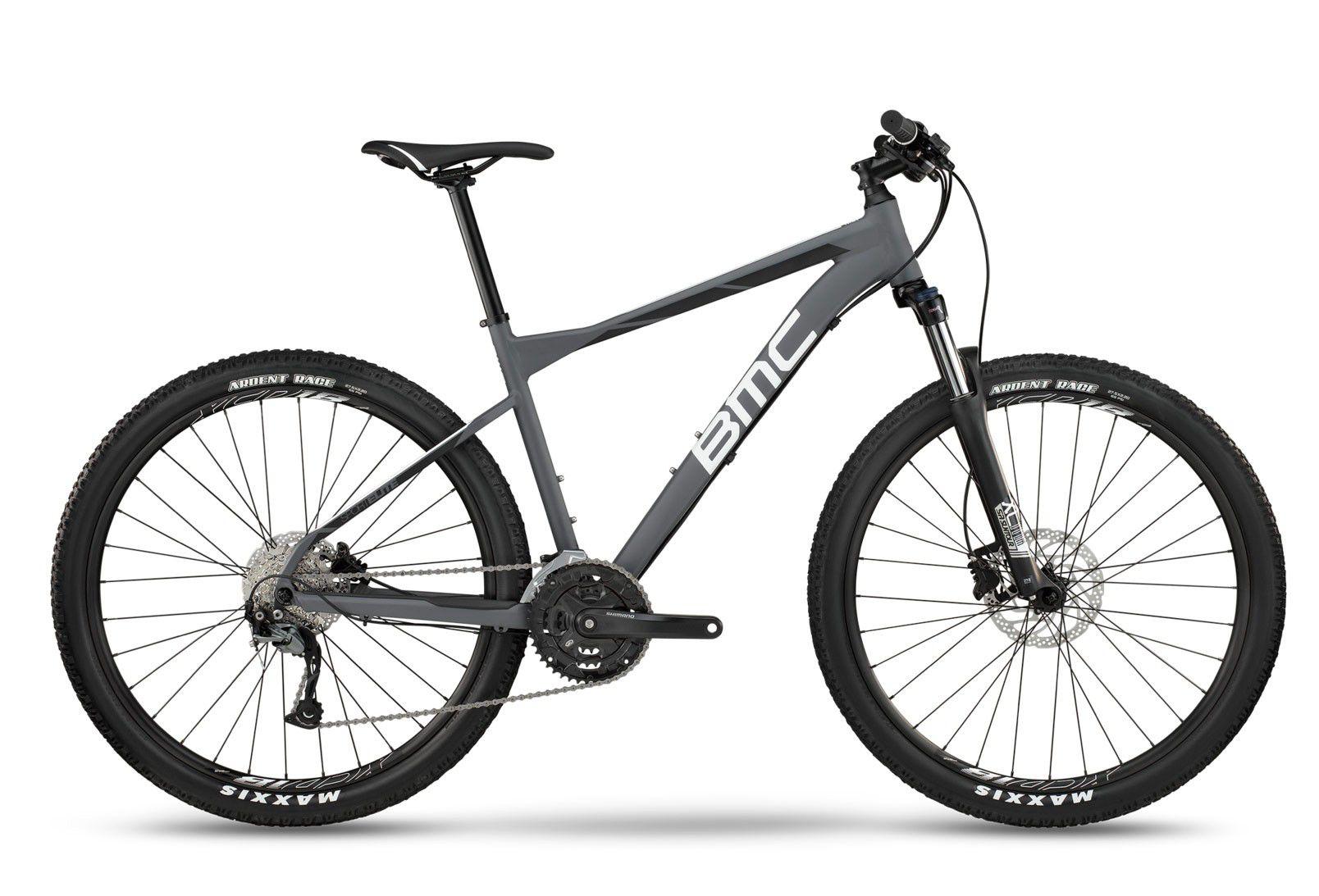 "Bicicleta BMC Sport Elite Three Aro 27,5 2018 Cinza Branca e Preta"""