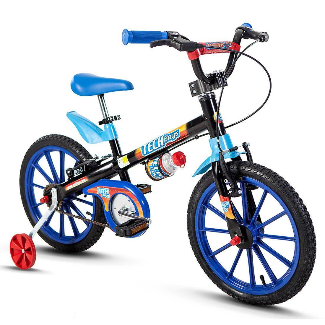 Bicicleta Infantil aro 16 modelo Tech Boys Nathor Bike