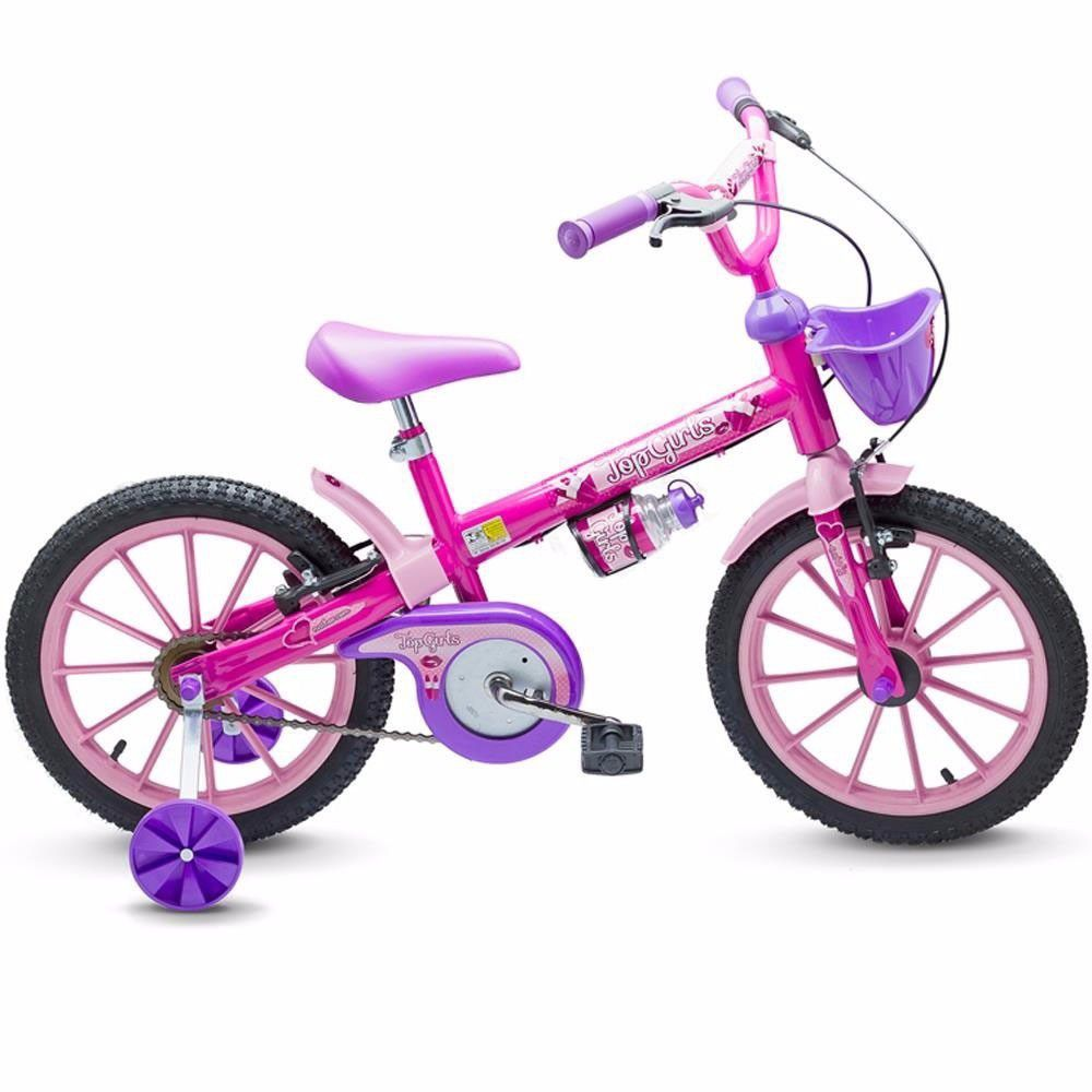 Bicicleta Infantil Aro 16 Top Girls Nathor Bike