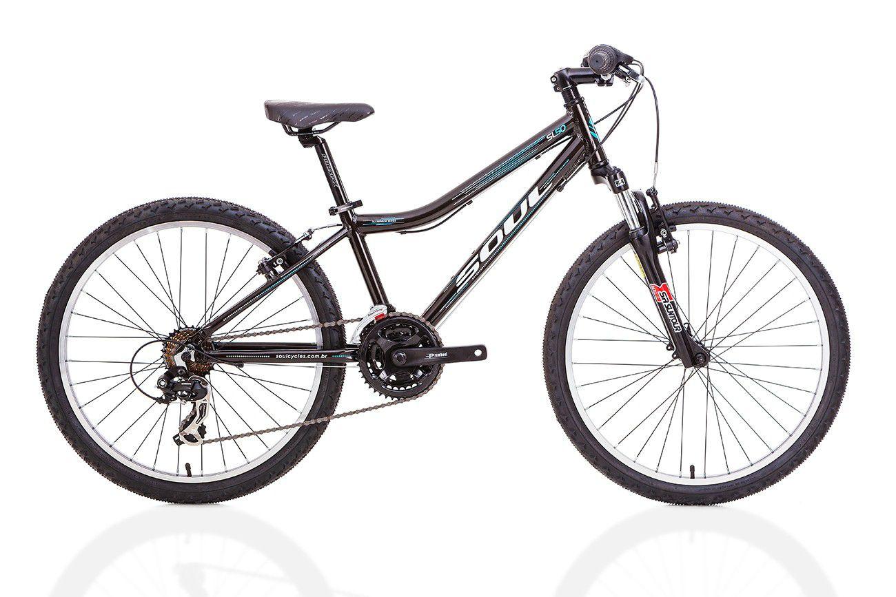 Bicicleta Soul SL50 Aro 24 Shimano 21v