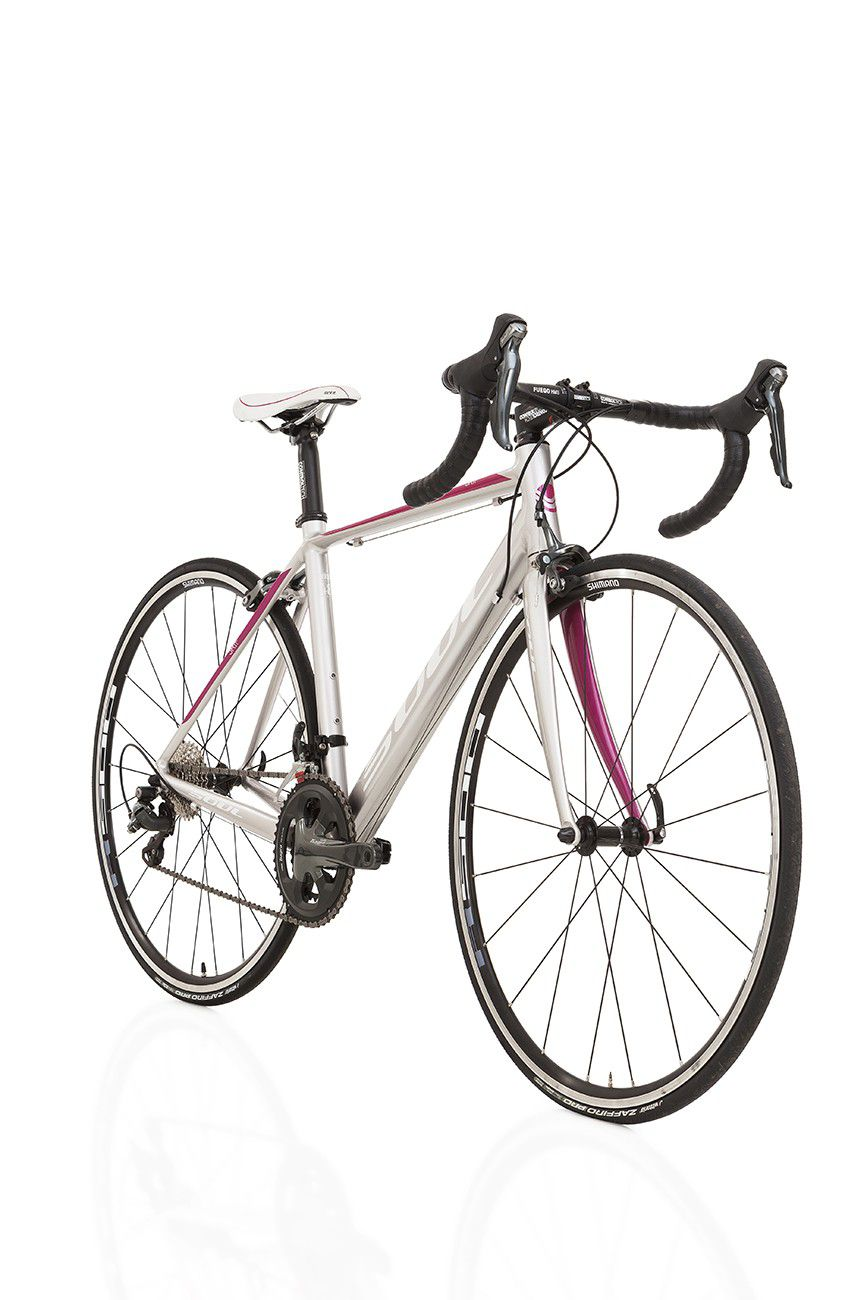 Bicicleta Speed Feminina Soul 3R1F Tiagra 20v T48 Prata Rosa
