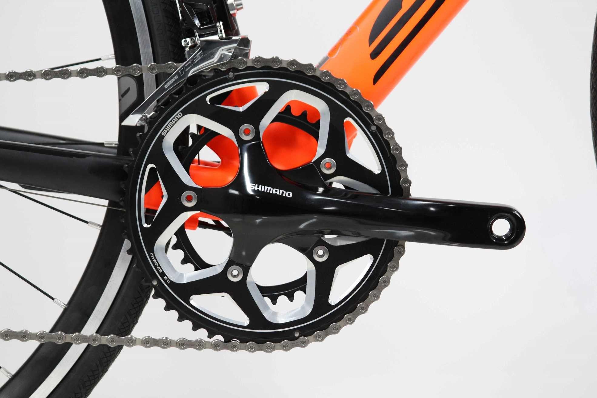 Bicicleta Speed TT Soul Ironfox 22V 105 Preto/laranja