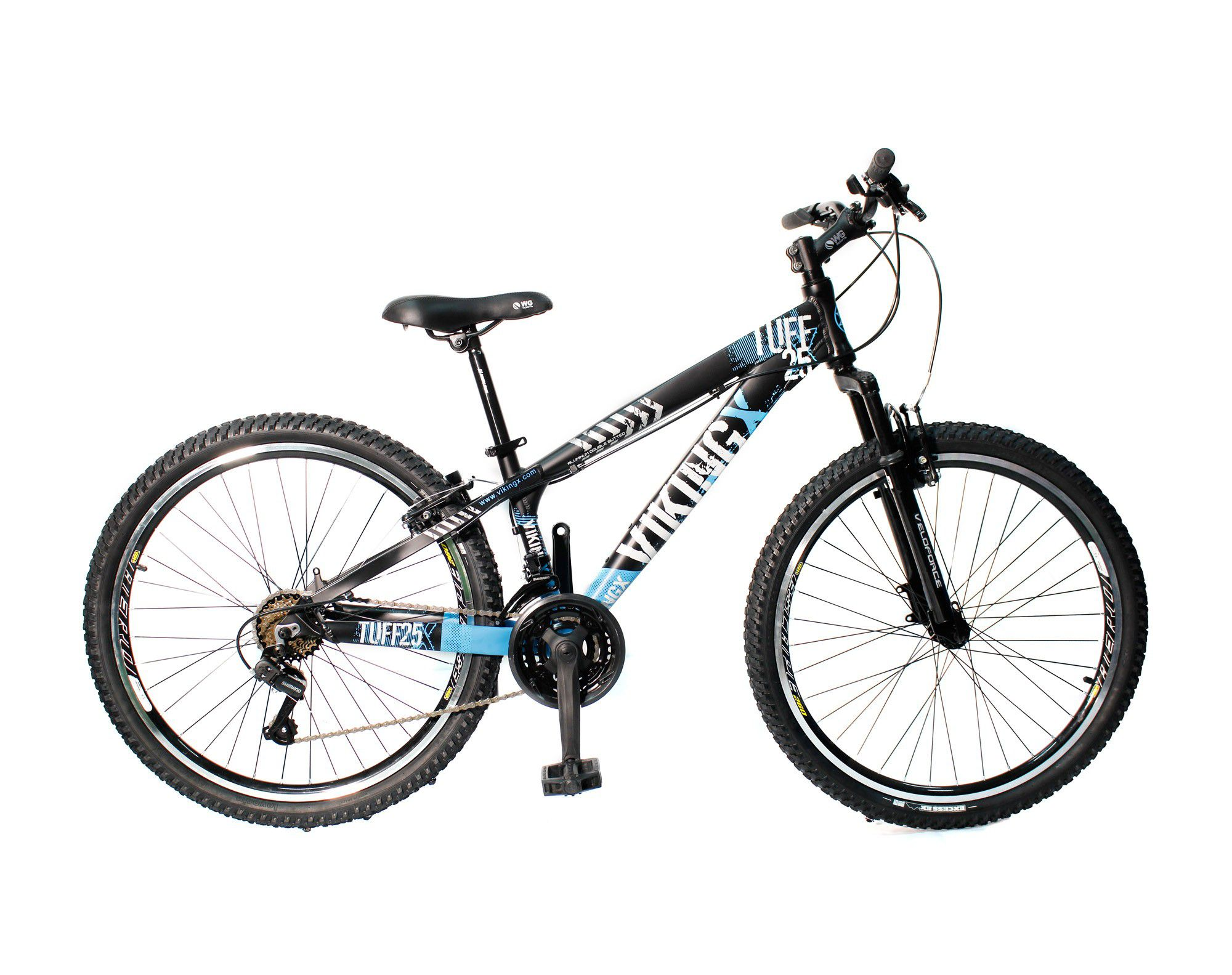 Bicicleta Vikingx Tuff Freeride Freio V-brake Preto/Azul