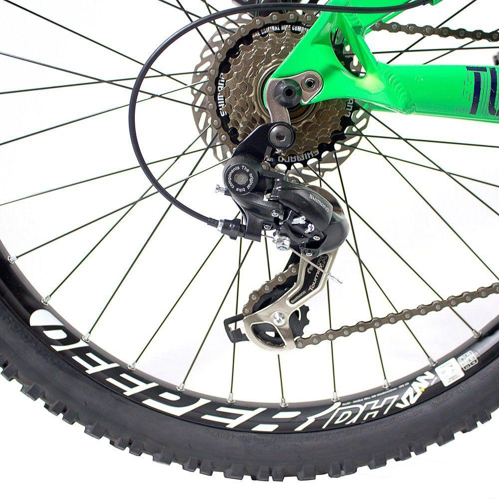 Bicicleta Vikingx Tuff X25 Premium Verde Neon Disco Hidráulica Spinner 300
