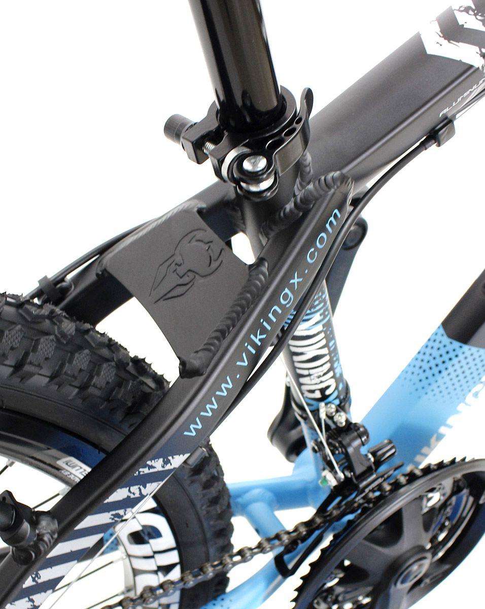Bicicleta Vikingx Tuff X29 Shimano Freio a Disco Preta Azul Freeride