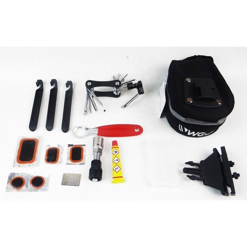 Bolsa De Selim WG Sports - Kit Multi Ferramentas Bike Ciclismo