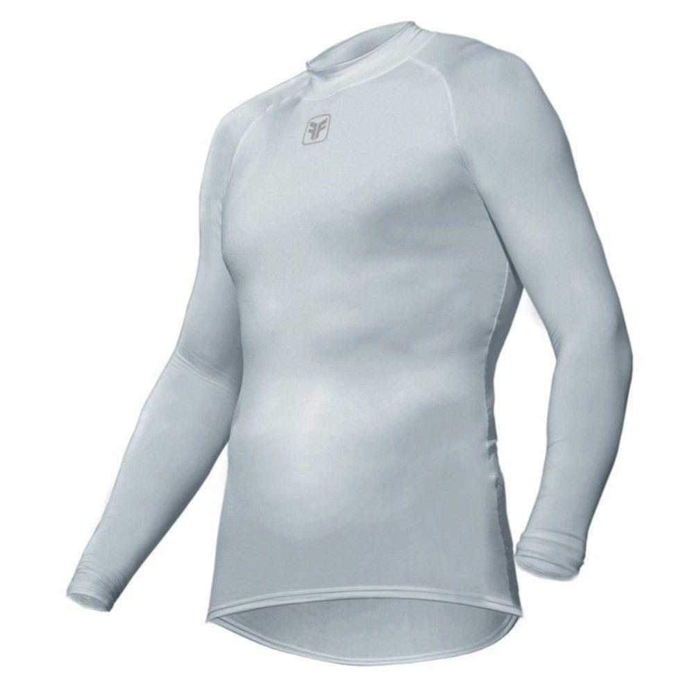 Camisa Segunda Pele Free Force Skin Fit Manga Longa Branca