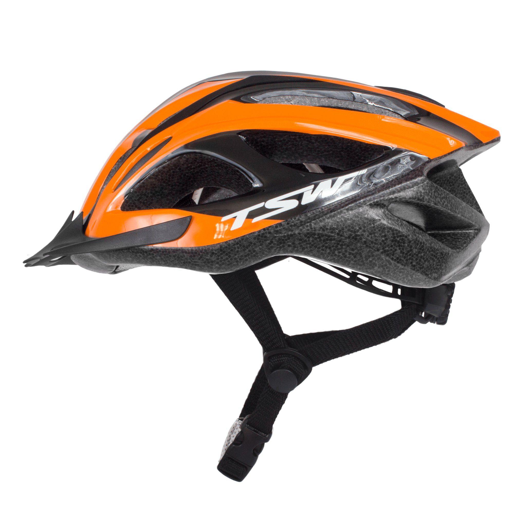 Capacete Bicicleta Mtb Speed New Walk Tsw C/Viseira Tam. M 54/59cm