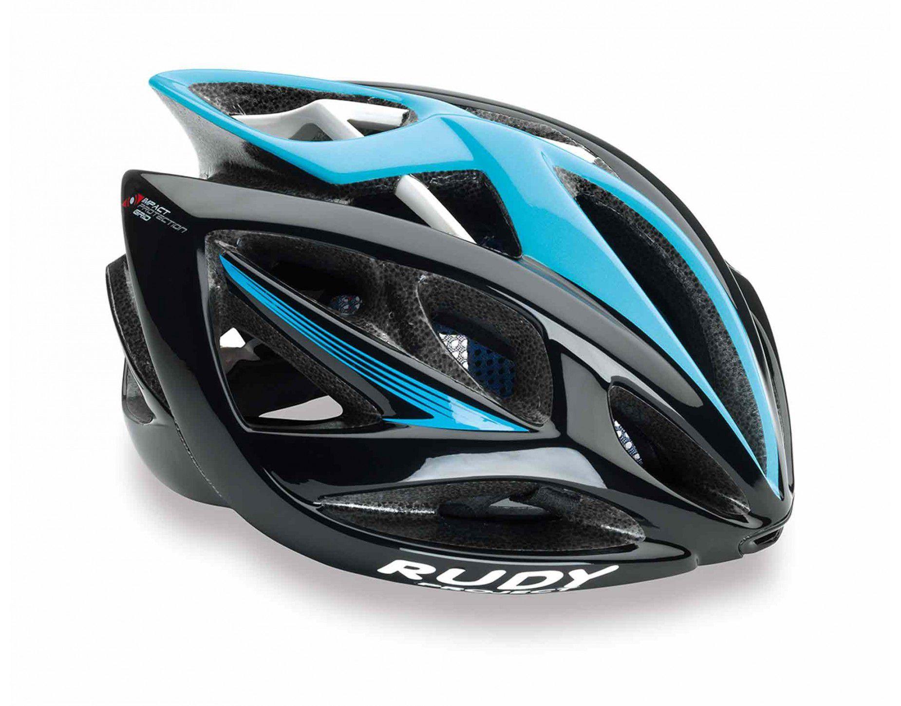 Capacete Bike Rudy Project Airstorm Preto/azul Tam S-m 54-58