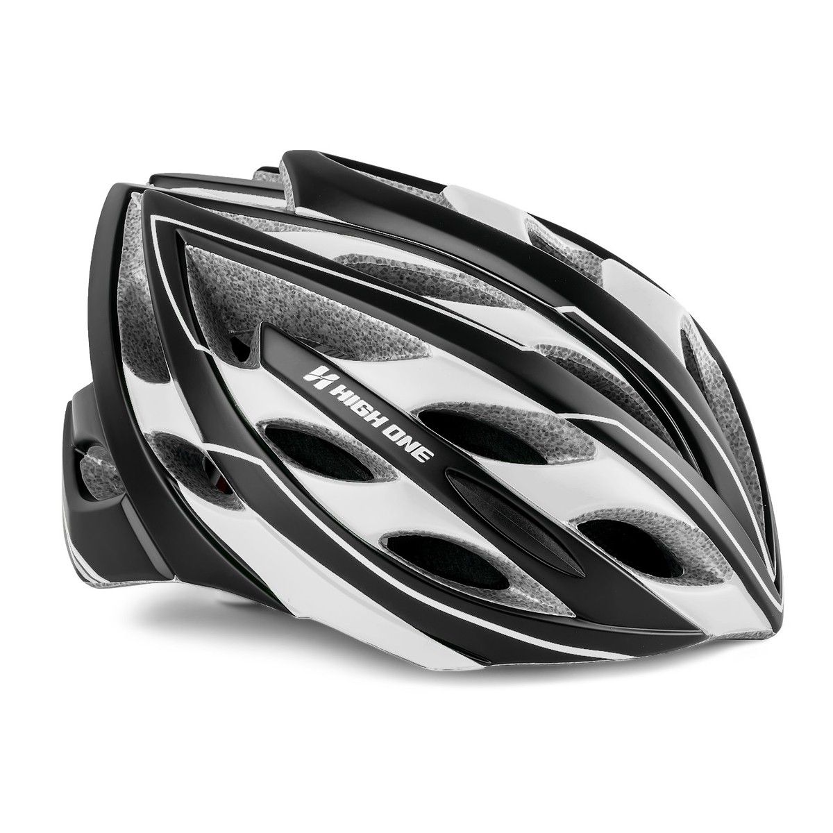 Capacete High One SV 90 In Mold Pto/Branco MTB Speed Bike