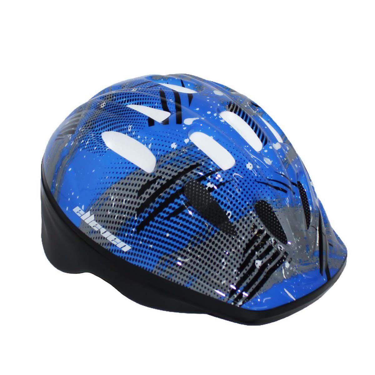 Capacete Infantil Azul Preto Skate Patins Bike