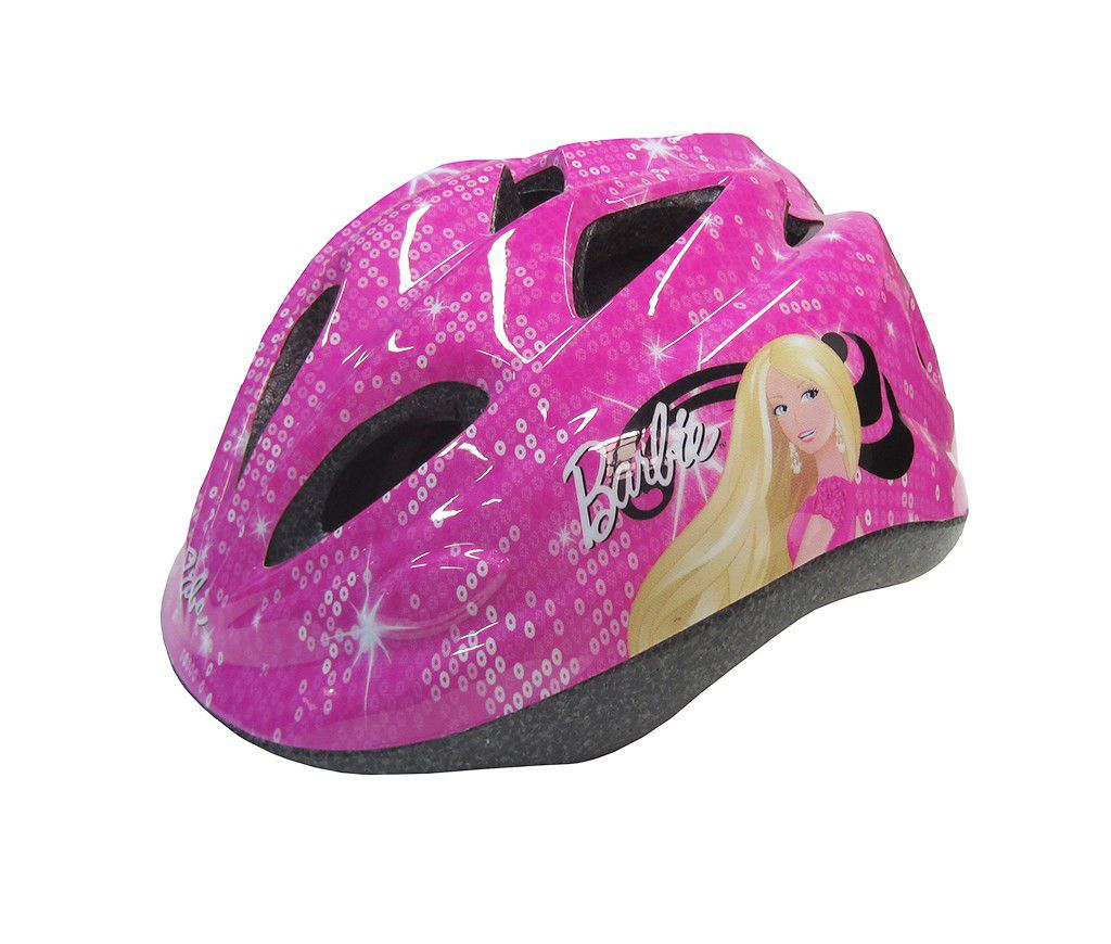 Capacete Infantil Barbie com Regulagem Patins Bike Skate