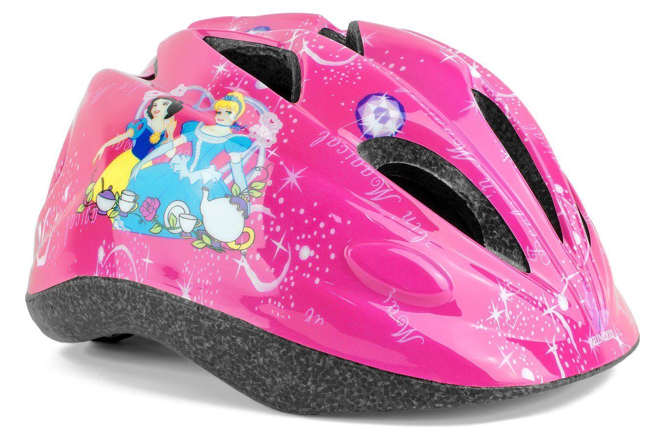 Capacete Infantil Princesas Branca de Neve com Regulagem Patins Bike Skate