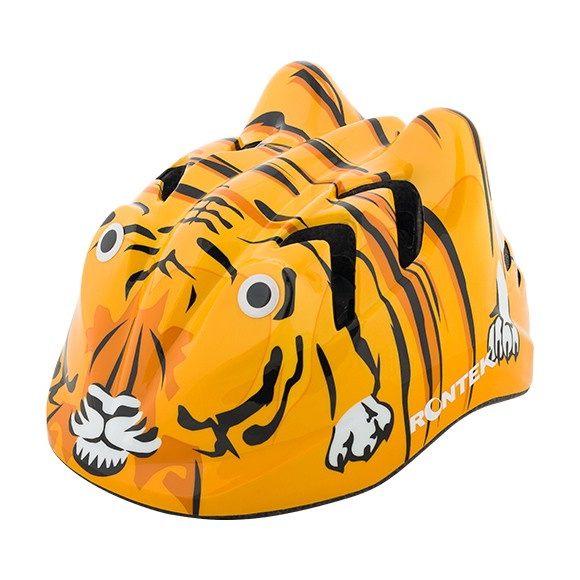 Capacete Infantil Rontek Tigre - Tamanho P (48 a 52cm)