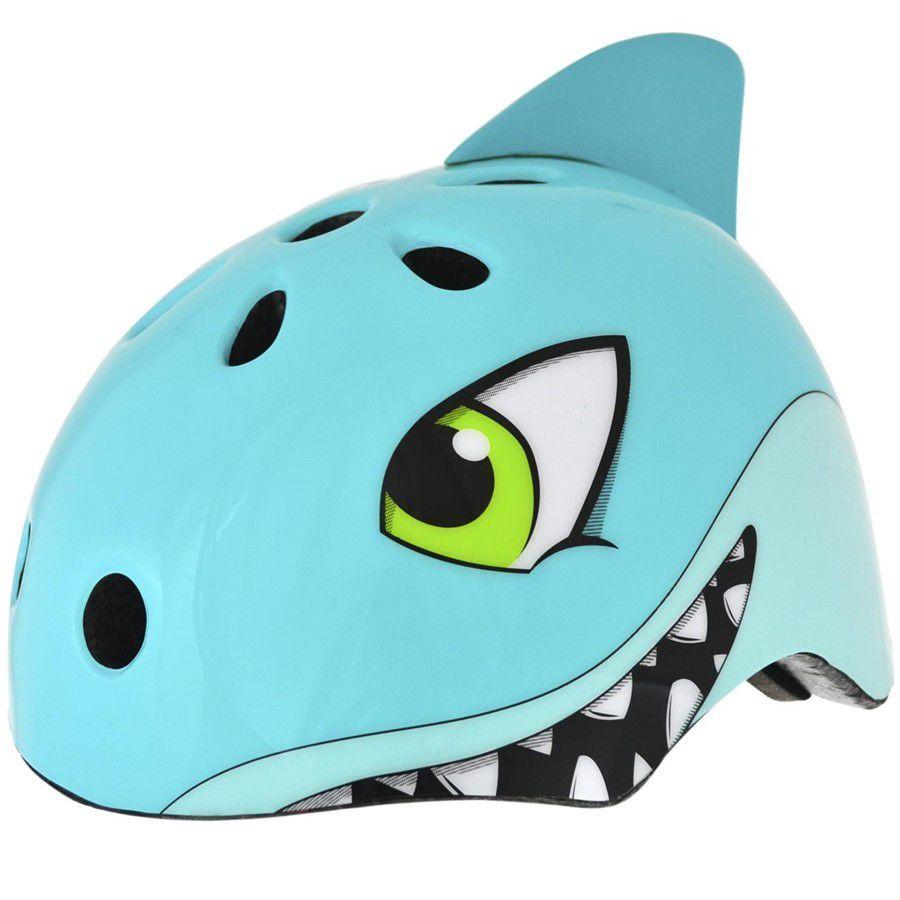 Capacete Infantil Tubarão Kidzamo + Joelheira + Cotoveleira