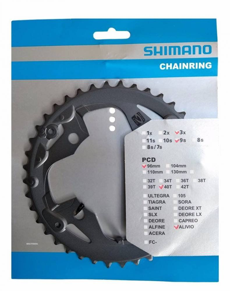 Coroa Shimano Alivio 40D FC-M4000