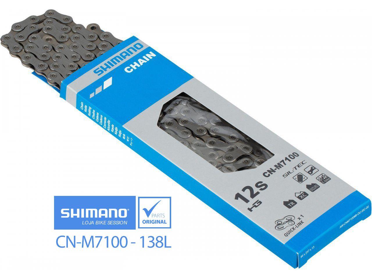 Corrente Shimano 2x12v CN-M7100 SLX Deore XT XTR - 138L