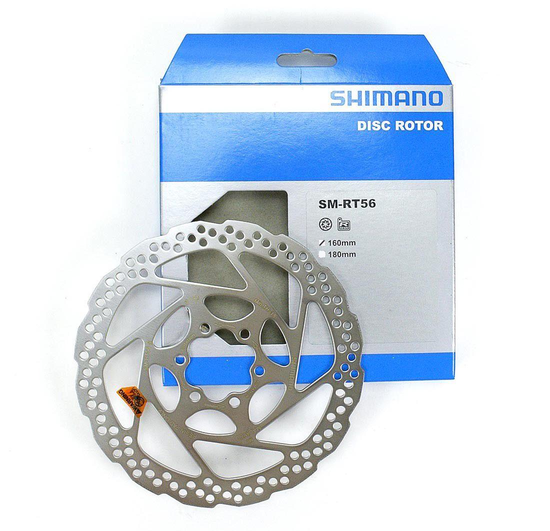 Disco de Freio Shimano RT56 160mm Inox para Parafuso