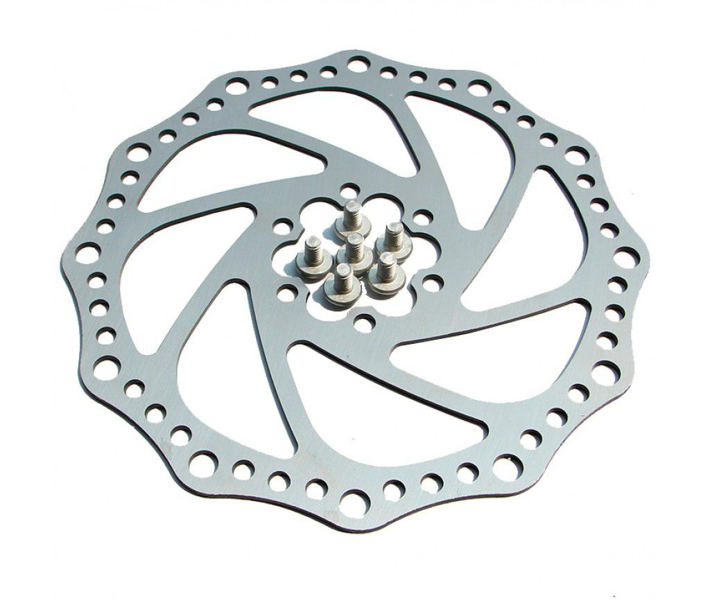 Disco Rotor Inox Freio 180mm 6 Parafusos Absolute