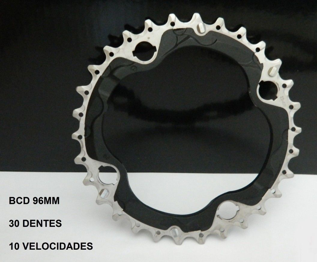 Engrenagem Coroa Slx Deore 30 Dentes Bcd 96mm 10v (meio)