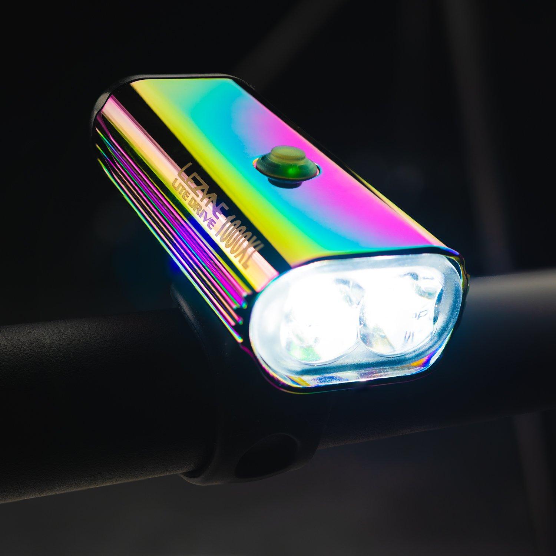 Farol Lezyne Lite Drive 1000XL Neo Metallic - 1000 lúmens