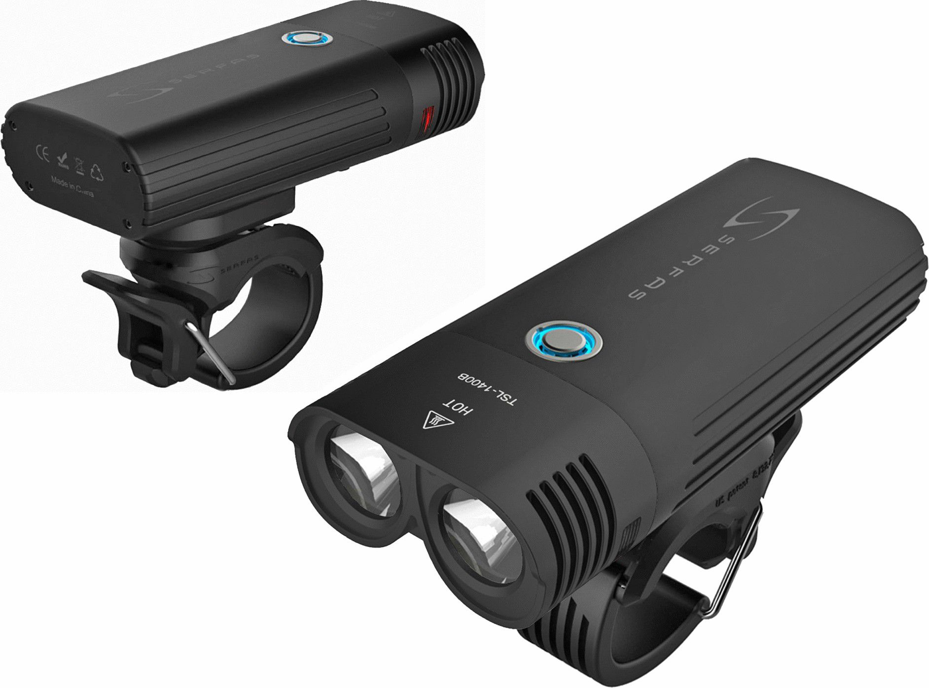 Farol para bicicleta Serfas E-Lume 1200 Lumens USB Led